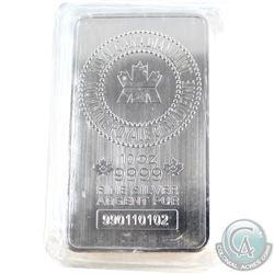 10oz RCM .999 Fine Silver Bar in Sealed Plastic. (TAX Exempt)