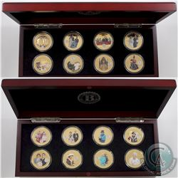 2014 & 2015 Tristan da Cunha 'Queen Elizabeth II Crowning Moments' 24K Gold Plated with Platinum Pri