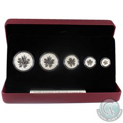 2013 Canada Silver Maple Leaf Anniversary Fractional Set (Tax Exempt)