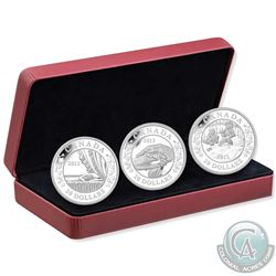 2013 Canada $20 Birth of the Royal Infant Fine Silver 3-Coin Set (Tax Exempt)