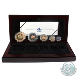 2003 Canada Hologram 5-coin Fine Silver Maple Leaf Set (TAX Exempt) Outer box is worn.