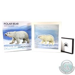 2018 Real Shaped Iconic Canada - Polar Bear 100g Fine Silver Coin (Tax Exempt) Please note colouring
