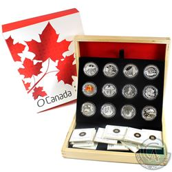2013 Complete O Canada $10 Fine Silver 12-Coin Set with Deluxe RCM Box (Tax Exempt)