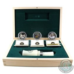2013-2014 $10 Ducks of Canada Fine Silver 3-coin Deluxe Box Set & Caller (Tax Exempt)