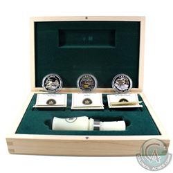 2013-2014 $10 Ducks of Canada Fine Silver 3-coin Deluxe Box Set & Caller (Tax Exempt)