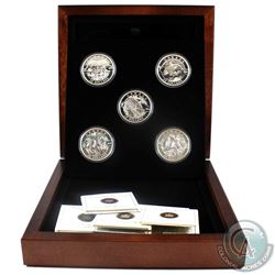2013 'O' Canada $25 Fine Silver 5-Coin set in deluxe RCM wooden box (Tax Exempt) Please note capsule