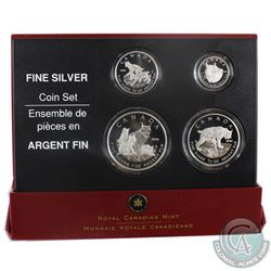 2005 Canada Fractional The Lynx .9999 Fine Silver 4-coin set (Tax Exempt) Please note packaging cont