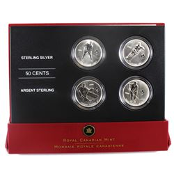2005 Canada 50-cent Toronto Maple Leafs Hockey Legends Four Coin Set.