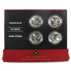 2005 Canada 50-cent Montreal Canadiens Hockey Legends Four Coin Set.  Missing outer box.