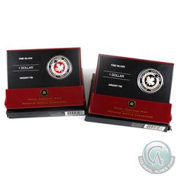 2006 Special Edition Proof & 2006 Limited Edition Enameled Canada $1 Medal of Bravery Fine Silver Co