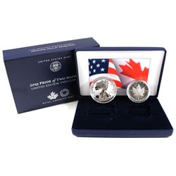 2019 USA & Canada Pride of Two Nations - Limited Edition Fine Silver Two-Coin Set (Tax Exempt) Pleas