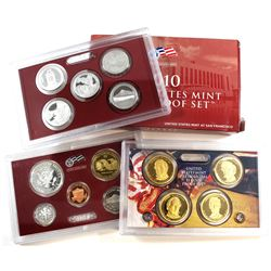 2010-S United States Mint Silver Proof Set. Minor tear on outer box.