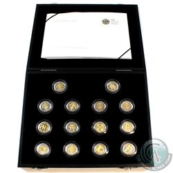 2008 United Kingdom 1-Pound Proof Sterling Silver 14-coin Collection.  You will receive 14 coins dep