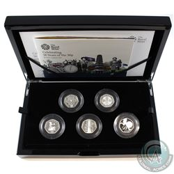 2019 United Kingdom 50-Pence Celebrating 50 years- British Culture Sterling Silver 5-coin set.