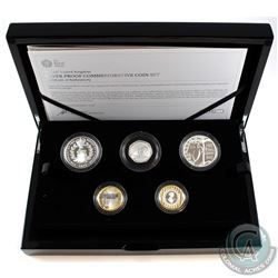 2017 United Kingdom Limited Edition Silver Proof Commemorative 5-coin Set.