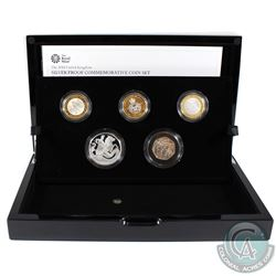 2018 United Kingdom Limited Edition Silver Proof Commemorative 5-coin Set.