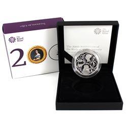 2019 United Kingdom 5-Pound 200th Anniversary of the Birth of Queen Victoria Silver Proof Peidfort.