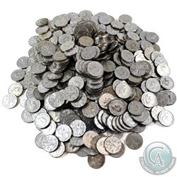 * Estate Lot of 1945 Canada Steel 5-cent. You will receive 490 coins in this collection.  490pcs.