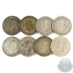 Estate Lot 1920's-1933 Great Britain Silver Crown Collection. You will receive 8 Coins in this colle