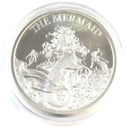 The Mermaid 2oz. .999 Fine Silver High Relief Round (Tax Exempt) Produced by the Intaglio Mint.