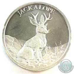 The Jackalope 2oz. .999 Fine Silver High Relief Round (Tax Exempt) Produced by the Intaglio Mint. (T