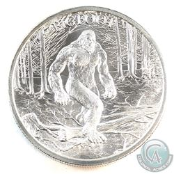Bigfoot 2oz. .999 Fine Silver High Relief Round (Tax Exempt) Produced by the Intaglio Mint.