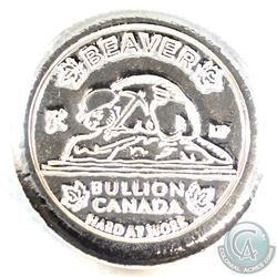 Beaver Bullion Limited Edition Hard At Work 5oz. .999 Fine Silver Round (Tax Exempt)