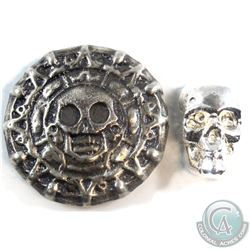 Beaver Bullion 1oz Skull & 3oz Skull Round (Tax Exempt) You will receive a total of 4oz. 2pcs.