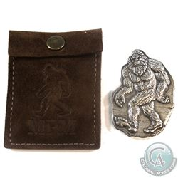 Monarch Precious Metals - Bigfoot 3oz. Antiqued Fine Silver Bar with Pouch (Tax Exempt)