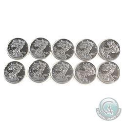 10x 1/10oz. .999 Fine Silver Walking Liberty Fractional Rounds (Tax Exempt) 10pcs.