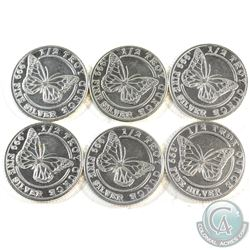 6x Monarch 1/2oz Butterfly .999 Fine Silver Rounds (TAX Exempt) You will receive a total of 3oz of F