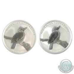 2x 2010 Australia $1 Kookaburra 1oz Fine Silver Coins (Tax Exempt) 2pcs.