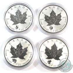 2016 Canada $5 Privy 1oz Fine Silver Maple Collection (Tax Exempt) You will receive the Yin Yang, Mo