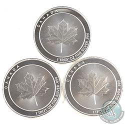 3x Ebay.ca Canada 1oz. .999 Fine Silver Rounds -map of Canada (Tax Exempt) 3pcs.