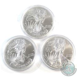 2019 United States $1 American Eagle 1oz. .Fine 999 Silver coins (Tax Exempt) 3pcs.