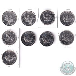 1993-2001 Canada $5 1oz Fine Silver Maple Collection (Tax Exempt) Toned. You will receive the 1993,