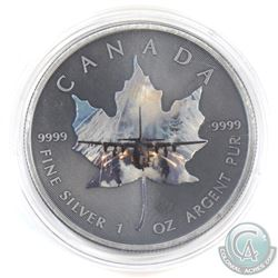 2015 Canada $5 Coloured 'Fighter Jet' Antique Finish 1oz Fine Silver Maple (Tax Exempt)