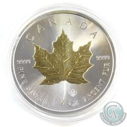 2015 Canada $5 Gilded 1oz Fine Silver Maple (Tax Exempt)