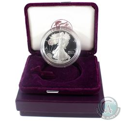 1992-S  American Eagle 1oz Fine Silver Proof Coin with Display Box and Certificate of Authenticity (