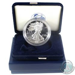 2001 American Eagle 1oz Fine Silver Proof Coin with Display Box and Certificate of Authenticity (Tax