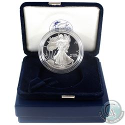 2003 American Eagle 1oz Fine Silver Proof Coin with Display Box and Certificate of Authenticity (Tax