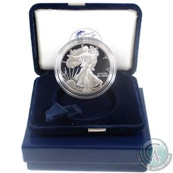2004 American Eagle 1oz Fine Silver Proof Coin with Display Box and Certificate of Authenticity (Tax
