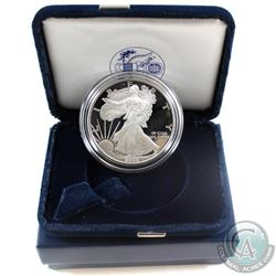 2005 American Eagle 1oz Fine Silver Proof Coin with Display Box and Certificate of Authenticity (Tax
