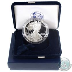 2006 American Eagle 1oz Fine Silver Proof Coin with Display Box and Certificate of Authenticity (Tax