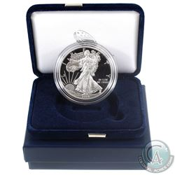 2014-W Burnished American Eagle 1oz Fine Silver Proof Coin with Display Box and Certificate of Authe