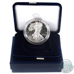 2015-W Burnished American Eagle 1oz Fine Silver Proof Coin with Display Box and Certificate of Authe