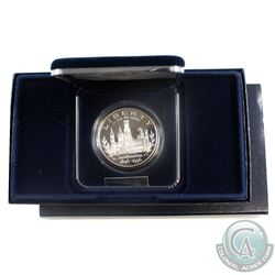 1996-P US Smithsonian Institution 150th Anniversary Commemorative Proof Silver Dollar with display b