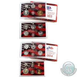 2003 & 2004 United States Mint silver proof set with box and coa (coins are toned and packaging cont
