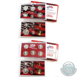 2005 & 2006 United States Mint silver proof set with box and coa (coins are toned and packaging cont