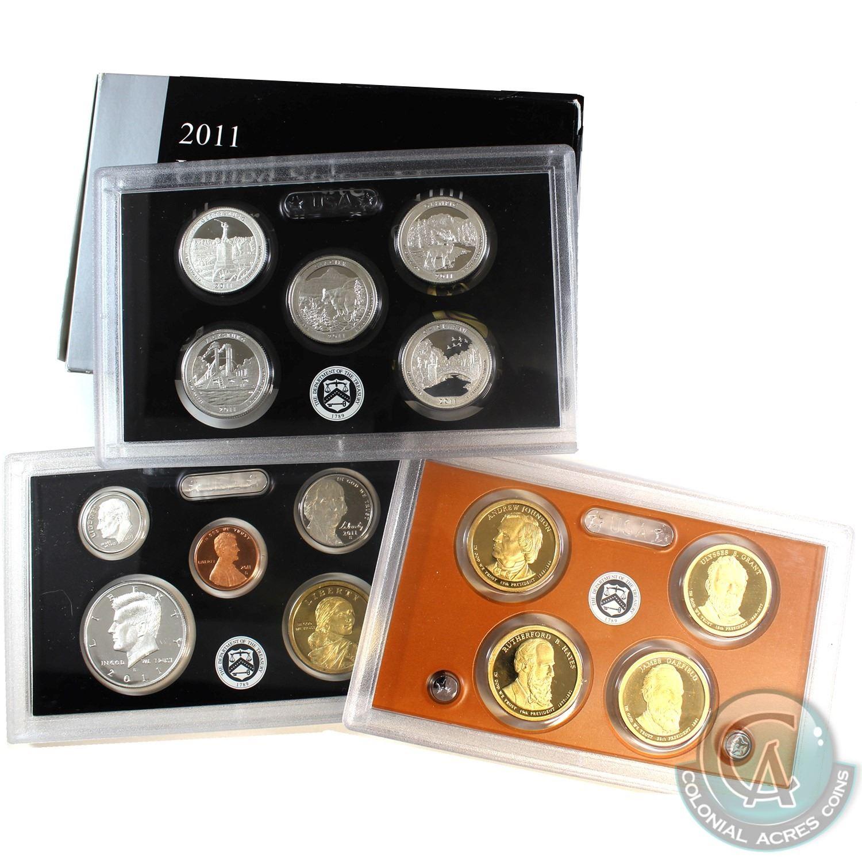 COA 2011-S United States Mint PROOF SET 14-Coins w//Box